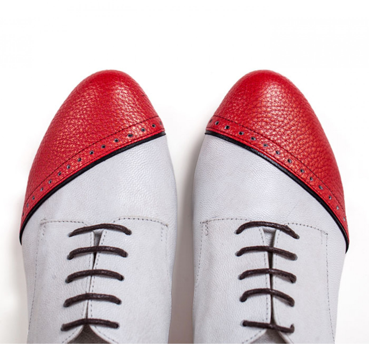 MOCASINI BRITISH RED & WHITE