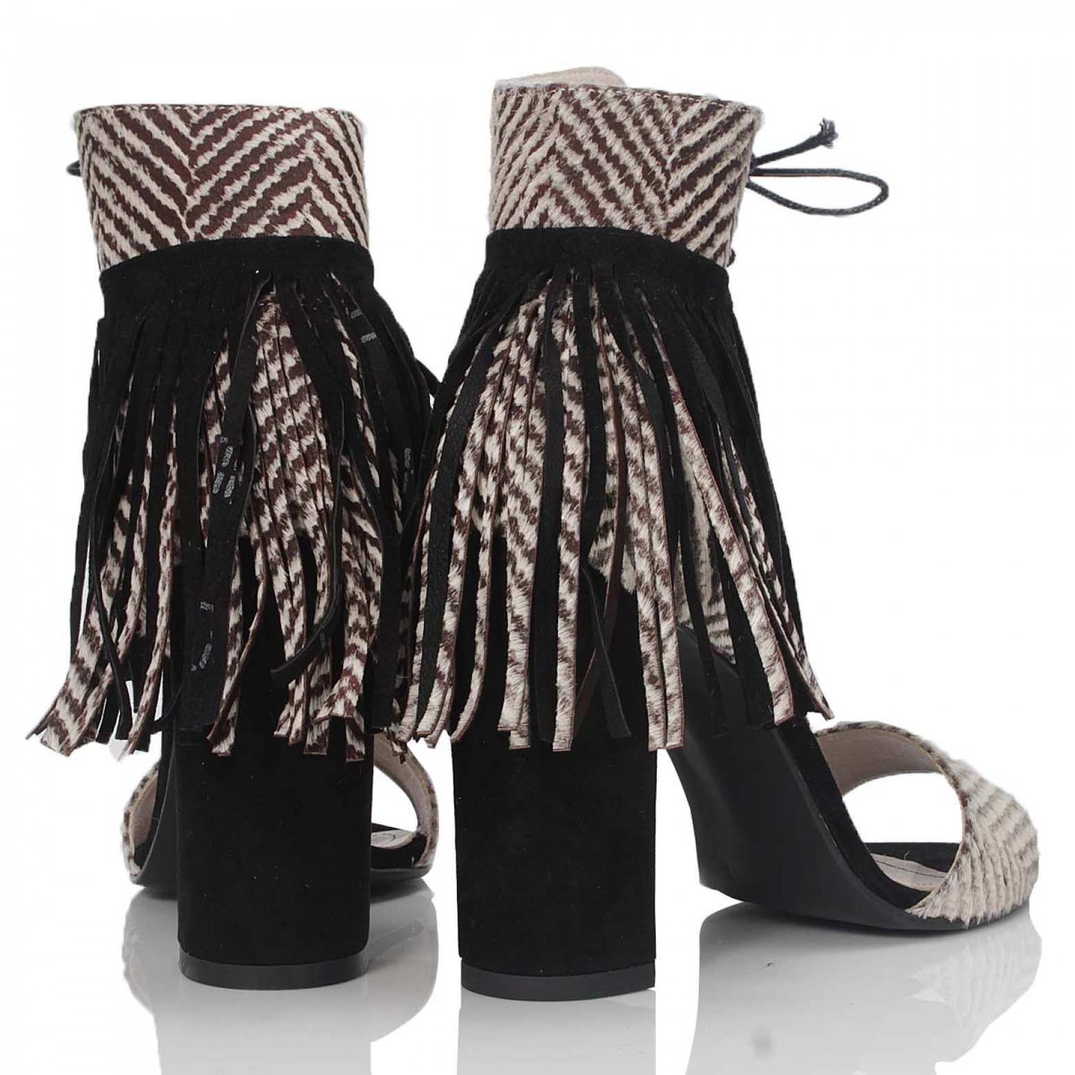 SANDALE BLACK FRINGES